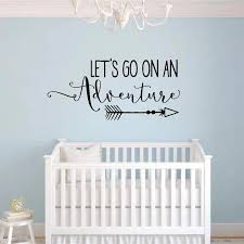 Lets Go On An Adventure Vinyl Wall Decal Quote Travel Theme Nursery Wall Sticker For Kids Rooms Home Decor Living Room New Wall Stickers Aliexpress