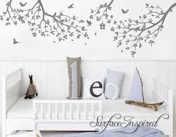 Nursery Wall Decal Tree Wall Decal Kids Wall Decal Whimsical Branches Surface Inspired Home Decor Wall Decals Wall Art Wooden Letters