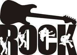 Rock Guitar Decal Rock Guitar Silhouette Rock Sticker Rock Wall Vinyl Wall Art Music Logo Vinyl Sticker