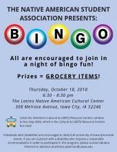 Native American Student Association: Grocery Bingo | University of Iowa  College of Law Field Placement Program