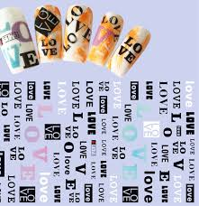 1 Sheet Adhesive 3d Nail Stickers Decals Love Art Letters Designs Nails Art Tips Decorations Tools For Women Diy Beauty A736