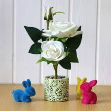 بوكيه ورد صناعي الزهور في وعاء مجموعة من 2 للمنزل طاولة مكتبية