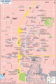 las vegas strip map map of las vegas