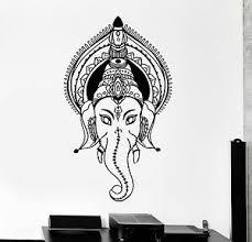 Vinyl Wall Decal Ganesha Head India God Elephant Stickers Murals Ig4469 Ebay