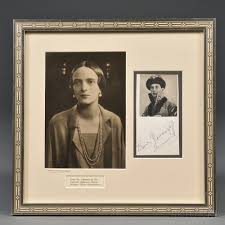 Framed Photograph of Grand Duchess Irina Alexandrovna and Signature of Felix  Yusupov | Sale Number 2645B, Lot Number 385 | Skinner Auctioneers