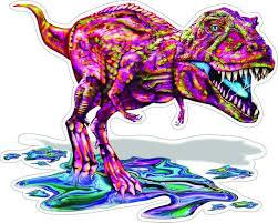 Colorful T Rex Dinosaur High Resolution Vinyl Decal Sticker Etsy