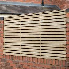 Forest 6 X 3 Pressure Treated Contemporary Double Slatted Fence Panel 1 8m X 0 91m Buy Sheds Direct