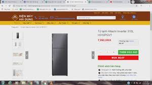 Tủ lạnh Hitachi Inverter 310L H310PGV7 - YouTube
