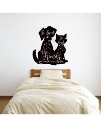 Find Savings On Morris Best Friends Dog And Cat Silhouette Vinyl Words Wall Decal Winston Porter