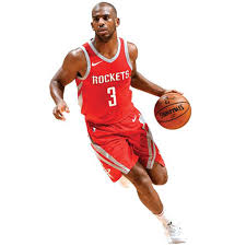 Houston Rockets Chris Paul Fathead Life Size Removable Wall Decal
