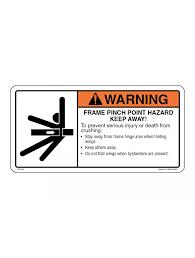 Frame Pinch Point Hazard Decal Roeda Graphics Online