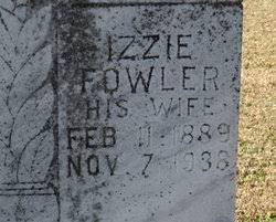 Izzie Adeline Fowler Fowler (1889-1938) - Find A Grave Memorial