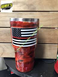 Fire Tumbler Tumbler Made To Order Personalized Decal Tumbler Jamies Decals