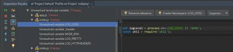 configuring javascript code inspection