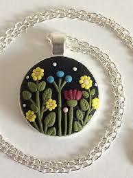 pendant necklace flowers unique gift