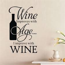 Stickers Cuisine Wine Improves With Age I Improve Winebottle Quote Wall Sticker Bar Kitchen Decor Wall Tile Stickers D726 Wall Tile Stickers Wall Stickertile Stickers Aliexpress