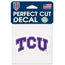 Tcu Horned Frogs 4 X4 Perfect Cut Car Decal New Ncaa Auto Sticker Emblem For Sale Online