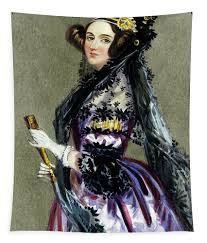 Portrait of Augusta Ada King,Countess of Lovelace Tapestry for ...