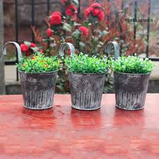 Tk Wall Hanging Flower Pot Garden Fence Balcony Plants Holder Bucket Vintage Decor Shopee Philippines