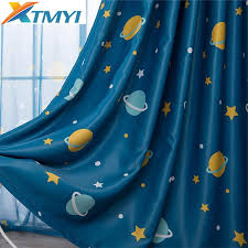 2020 Cartoon Moon Blackout Curtains For Kids Room Children Curtains For Children Bedroom Living Room Window Curtain For Child From Homedod 11 98 Dhgate Com