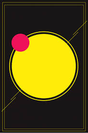 بسيطة سوداء دائرة صفراء معلومات الترويج خلفية دائرة صفراء صورة