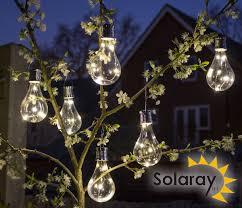 hanging solar bulb garden lights