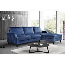 us pride furniture dark blue velvet 3