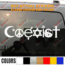 Coexist Decal Sticker Car Vinyl Religion Peace Pick Size Color Die Cut Jesus Jew No Background Car Stickers Aliexpress