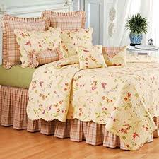 Amazon.com: C & F Priscilla King Bedskirt: Home & Kitchen