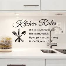 Home Art Decoration Removable Pantry Sticker Kitchen Rules Wall Decal Q Ebay