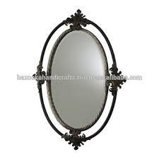 decorative metal hanging mirror frame