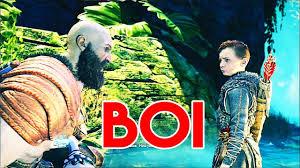 god of war kratos saying boy to atreus compilation video