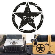 Army Star Decal Vinyl Sticker Car Body Stickers Decoration For Jeep Wrangler Etc Ebay