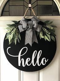 Pin by Breck Sondra Patterson on ~Black Accented Home~ | Door decorations,  Door hangers diy, Front door decor
