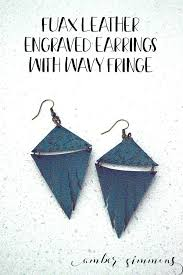 fringe faux leather earrings using the