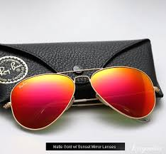 ray ban colored mirror glasses
