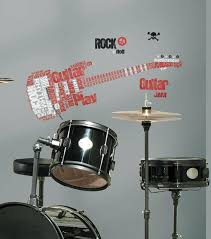 Roommates Rmk1884gm Rock Guitar Giant Wall Decal Kids Coloring Book For Sale Online Ebay