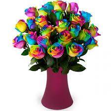 rainbow rose bouquet in bethesda md