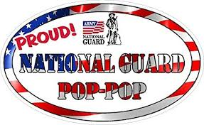 Amazon Com Vinyl Decal For Car Window Proud National Guard Pop Pop Military Full Color Office Products