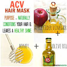 diy apple cider vinegar acv hair mask