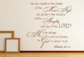 Psalm 91 1 2 Wall Decal Bible Verse Wall Decal Christian Wall Decal Scripture Wall Dec Scripture Wall Decal Christian Wall Decals Bible Verse Wall Decals