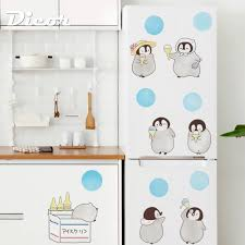 Dicor Brand Kawaii Wall Stciker Penguin Cartoon Blue Circle Wallpaper For Fridge Cabinet Furniture Decor Funny Decal Diy Lovely Buy At The Price Of 6 99 In Aliexpress Com Imall Com