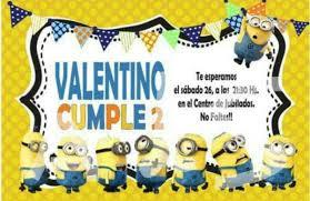 Tarjeta Invitacion Cumpleanos Minions Mickey Minie Frozen 120
