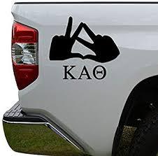 Amazon Com Hiweike Greek Sorority Hand Sign Kappa Alpha Theta Vinyl Decal Laptop Car Truck Bumper Window Sticker Automotive