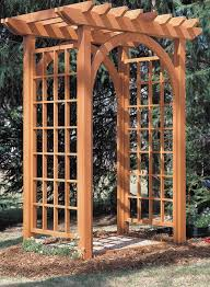 garden arbor woodworking project