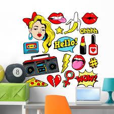 80s 90s Retro Pop Art Fashion Wall Decal Sticker Set Wallmonkeys Peel And Stick Graphic 36 In H X 36 In W Wm502702 Walmart Com Walmart Com