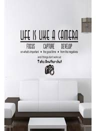 Shop Life Is Like A Camera Wall Stickers Wall Decal Online In Riyadh Jeddah And All Ksa