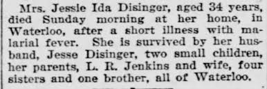 Ida Jenkins Disinger obituary - Newspapers.com
