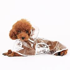 Transparent Dog Raincoat Pet Jacket Outdoor Puppy Clothes ...