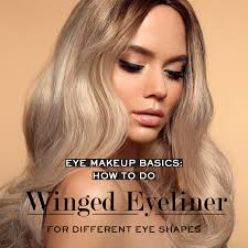 do winged eyeliner for diffe eye